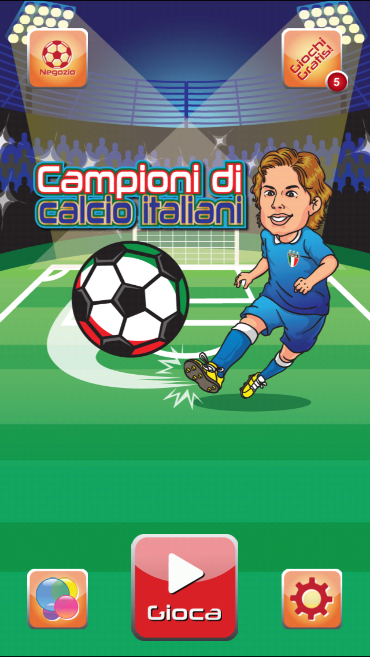 Campioni del mondo di calcio Italiani - Italian world football champions Game Screen