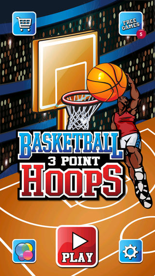 Basketball - 3 Point Hoops
